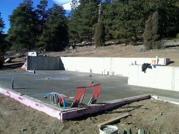 Foundation and Slab Poured for Brandt House