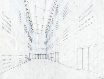 Uphams Corner Library - Interior Perspective