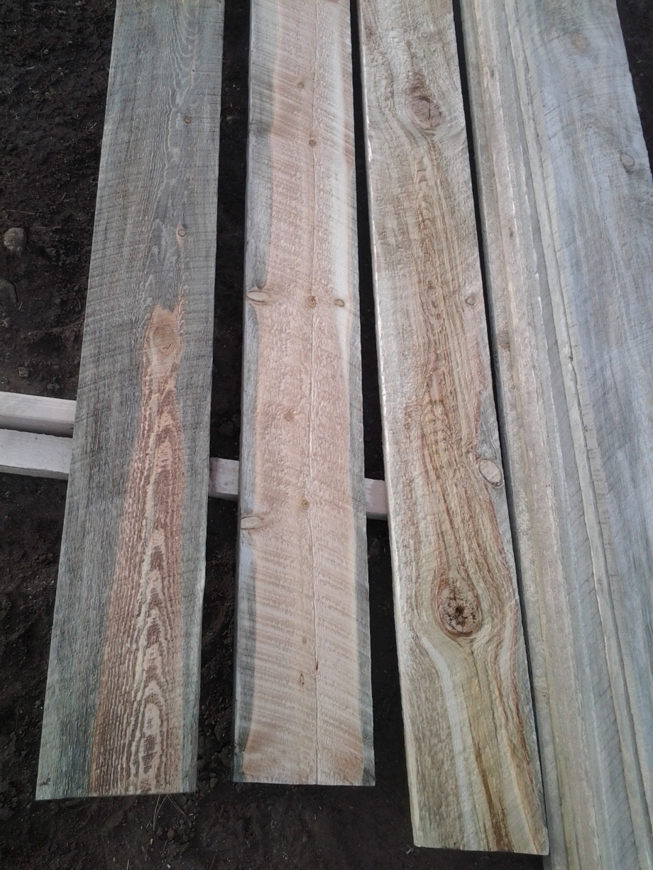 Eco Wood Treatment on Beetle Kill Facia boards from Hester's Lumber