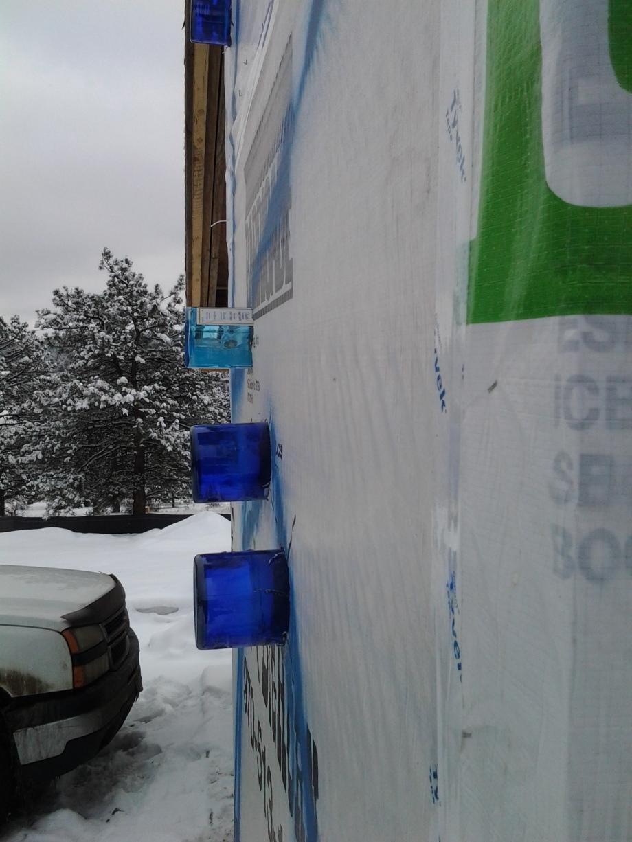 Glass bottles, exterior