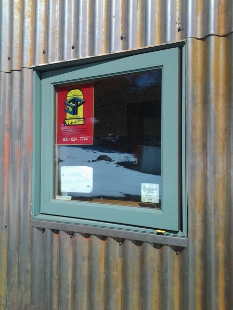 Steel Window Flashing and Corrugated Steel Siding