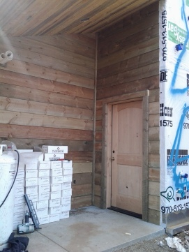 Entry Porch with Beetle Kill Pine