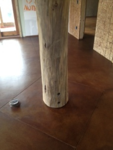 Column in Living Area