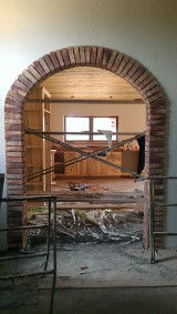 Office Archway to Kitchen