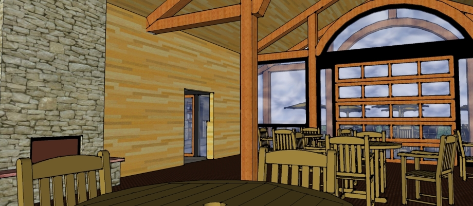 Mountain Lodge Interior