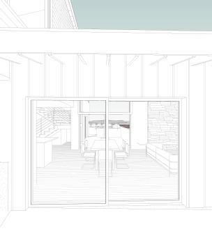 Flenniken_Site - 3D View - EXT - Through Dining