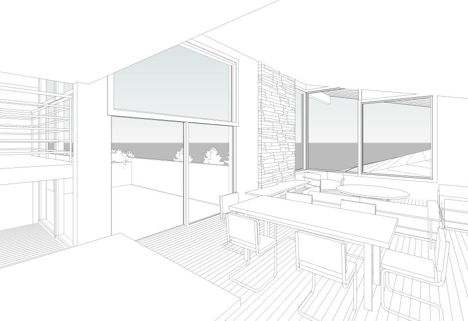Flenniken_Site - 3D View - INT - View From Kitchen