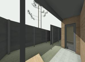 Beckler_Sauna - 3D View - EXT-Entry 2