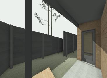 Beckler_Sauna - 3D View - EXT-Entry 2