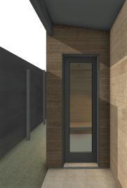 Beckler_Sauna - 3D View - EXT-Entry