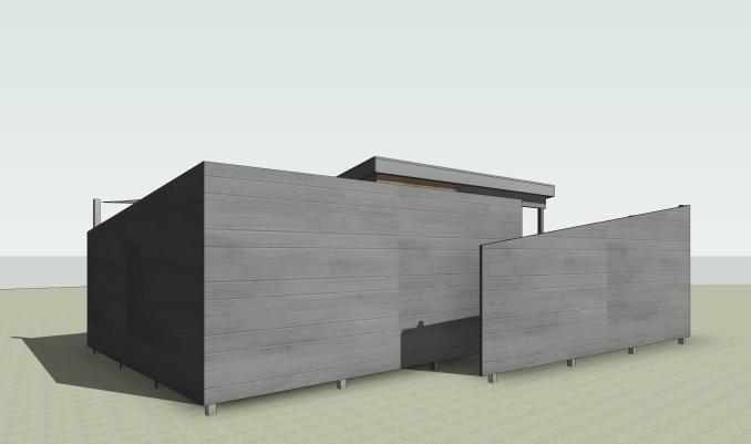 Beckler_Sauna - 3D View - EXT-SW View