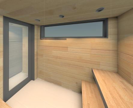 Beckler_Sauna - 3D View - INT-Sauna