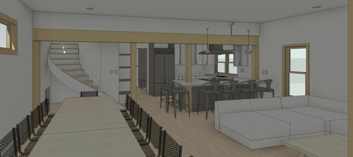 Regester_Permit - 3D View - INT - Family Room